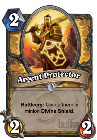 Argent Protector (Argent Protector) - Battlecry: Give a friendly minion Divine Shield.