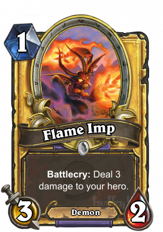 Flame Imp (Flame Imp) - Battlecry: Deal 3 damage to your hero.