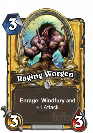 Raging Worgen (Raging Worgen) - Enrage: Windfury and +1_Attack.