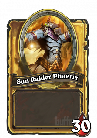 Sun Raider Phaerix (Sun Raider Phaerix) - Passive Hero Power\nWhoever controls the Rod of the Sun is Immune.