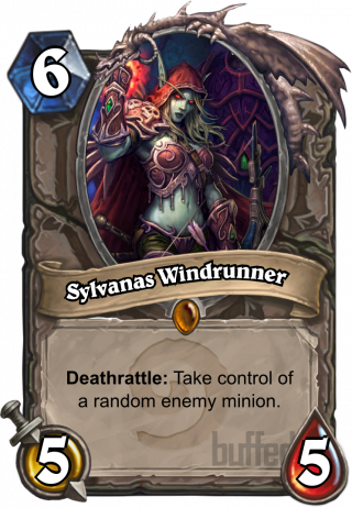 Sylvanas Windrunner (Sylvanas Windrunner) - Deathrattle: Takecontrol of a randomenemy minion.