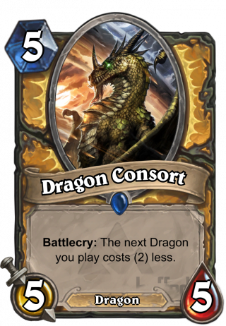 Dragon Consort (Dragon Consort) - Battlecry: The next Dragon you play costs (2) less.