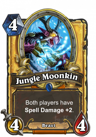 Jungle Moonkin (Jungle Moonkin) - Both players haveSpell Damage +2.