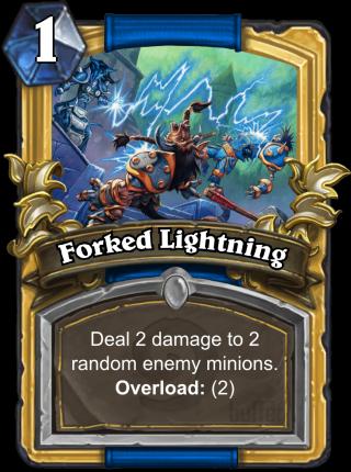 forked lightning spell card hearthstone database guides deck