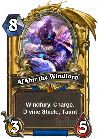 Al'Akir the Windlord (Al'Akir the Windlord) - Windfury, Charge, Divine Shield, Taunt