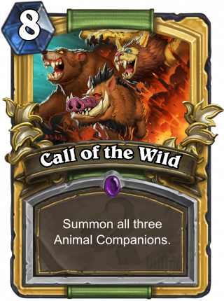 Call Of The Wild Spell Card Hearthstone Database Guides Deck Builder