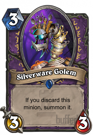 Silverware Golem (Silverware Golem) - If you discard this minion, summon it.