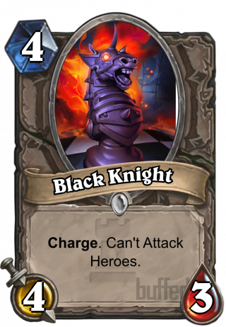 Black Knight (Black Knight) - Charge.Can't Attack Heroes.