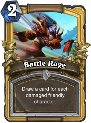 Battle Rage (Battle Rage) - Draw a card for each damaged friendly character.