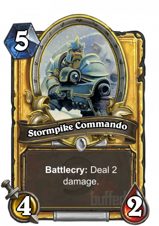 Stormpike Commando (Stormpike Commando) - Battlecry: Deal 2 damage.