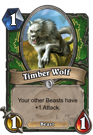 Timber Wolf (Timber Wolf) - Your other Beasts have +1_Attack.