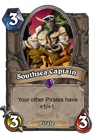 Southsea Captain (Southsea Captain) - Your other Pirates have +1/+1.