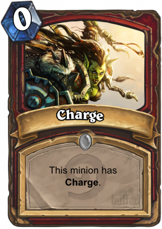 Charge (Charge) - Warsong Commander is granting this minion +1 Attack.