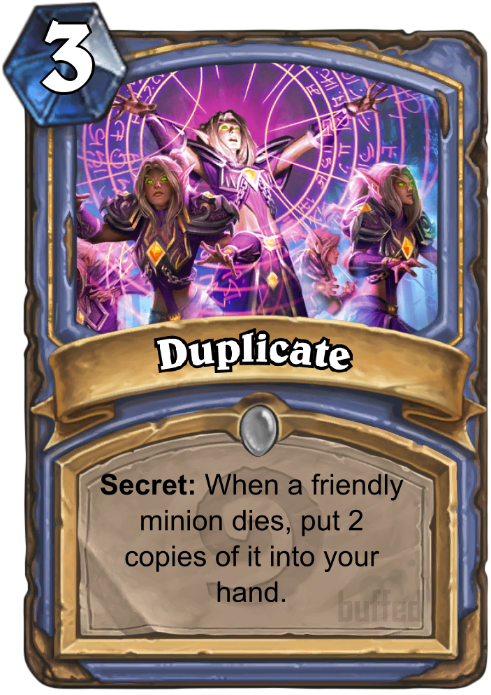 Duplicate Spell Card Hearthstone Database Guides