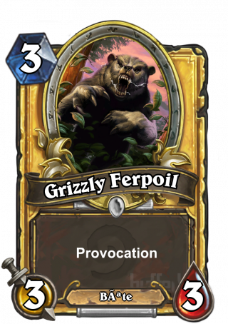 Grizzly Ferpoil (Ironfur Grizzly) - Provocation