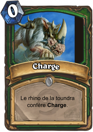 Charge (Charge) - Le rhino de la toundra confère Charge.