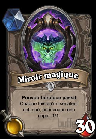 Miroir magique magic mirror h ros carte for Miroir magique