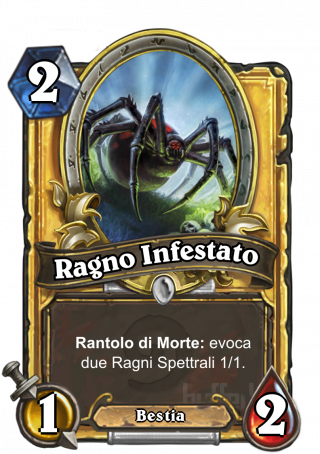 Ragno Infestato (Haunted Creeper) - Rantolo di Morte: evoca due Ragni Spettrali 1/1.